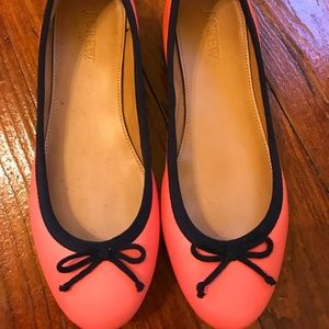 Coral and navy j. Crew factory ballet flats 6